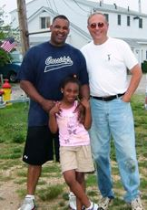 Al Livingston, his daughter and Superintendent Hub