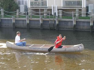 A boat being used at practice
