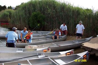 Loading the canoes