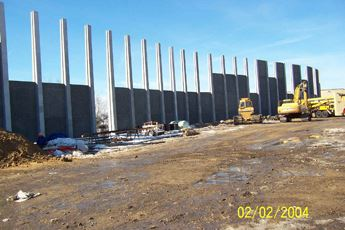 Installation of sound wall sections