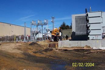 Modular substation erection at Power Plant 2